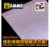 Border Model BD0013 - CAMO MASK CUTTING MAT MODERN TANKS