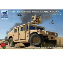 Bronco Models CB35136 - 1:35 M1114 Up-Armoured Vehicle w/XM153 Crows II