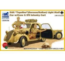 "Bronco CB35156 - 1:35 DAK ""Topolino"" (German/Italian) Light Staff Car w/Crew"