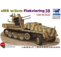 Bronco CB35213 - 1:35 German sWS w/2cm Flakviering 38
