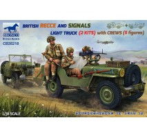 Bronco CB35218 - 1:35 BRITISH RECCE AND SIGNALS LIGHT TRUCK (2 KITS) with CREWS
