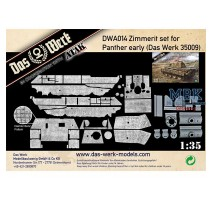 Das Werk DWA014 - 1:35 Zimmerit Set for Panther Ausf.A Early