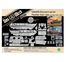 Das Werk DWA015 - 1:35 Zimmerit Set for Panther Ausf.A Mid-Late