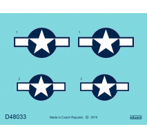 Eduard D48033 - 1:48 P-51D Mustang National Insignia