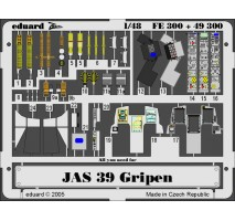 Eduard FE300 - 1:48 Photo-etched parts for JAS-39 Gripen, coloured (ITALERI)