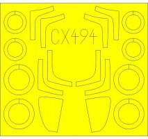 Eduard CX 494 - Mig-29 SMT 1:72 paint mask (Zvezda)