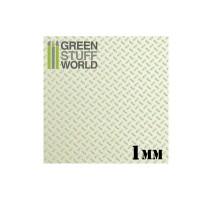 GSW - ABS Plasticard - Thread DIAMOND 1mm Textured Sheet - A4