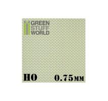 GSW - ABS Plasticard - Thread DIAMOND HO 0.75mm Textured Sheet - A4