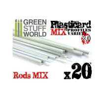GSW - Plasticard Profile VARIETY 20 Rods MIX