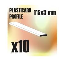 GSW - ABS Plain Profile 1.5x3mm