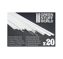 GSW - Plasticard Profile VARIETY 20 strips MIX