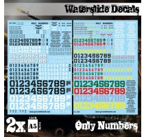 GSW - Waterslide Decals - Only Numbers