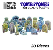 GSW - 20x Gravestones Plastic Set