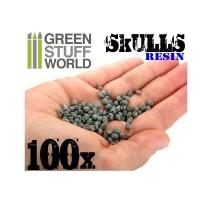 100 x resin skulls