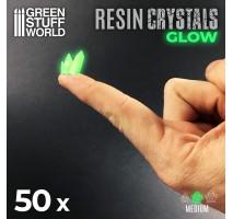 GSW - GREEN GLOW Resin Crystals - Medium