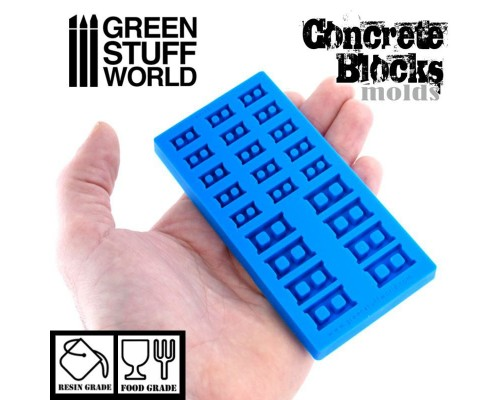 GSW - Silicone molds - CONCRETE BRICKS