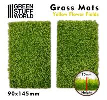 GSW - Grass Mat Cutouts - Yellow Flowers Fields