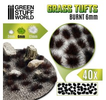 Grass tufts 6mm – Burnt Brown