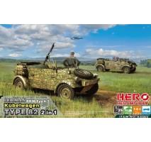 Hero Hobby H35005 - 1:35 German PKW Typ k1 Kubelwagen Type 82 2 in 1 with MG34