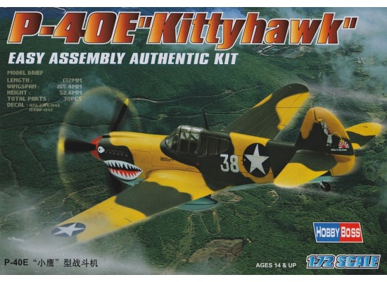 Hobby Boss 80250 - 1:72 Curtiss P-40E Kitty Hawk