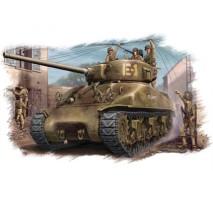 Hobby Boss - Macheta tanc US M4A1 (76)W Sherman Tank 1:48