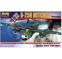 "Hong Kong Models 01E03 - 1:32 B-25H Mitchell ""Gunship"""