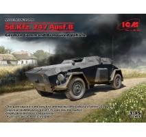 ICM 35110 - 1:35 1:35 Sd.Kfz. 247 Ausf.B, German Command Armoured Vehicle (100% new molds)
