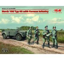 ICM - Macheta vehicul german Horch 108 Typ 40 + infanterie 1:35