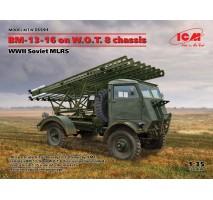 ICM 35591 - 1:35 BM-13-16 Katyusha on W.O.T. 8 chassis