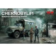 ICM 35901 - 1:35 Chernobyl#1 Radiation Monitoring Station (ZiL-131KShM truck 5 figures)