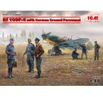 ICM 48805 - 1:48 Bf 109F-4 with German Ground Personnel - 8 figures