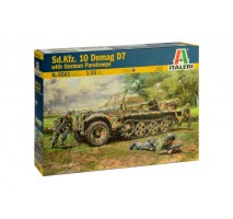 Italeri 6561 - 1:35 Sd.Kfz. 10 DEMAG D7 with German Paratroops - 4 figures