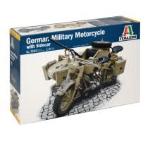 Italeri 7403 - 1:9 German Milit.Motorcycle with Sidecar