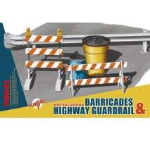 MENG Barricades & highway guardrail 1:35