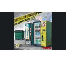 MENG Vending Machine & Dumpster Set 1:35