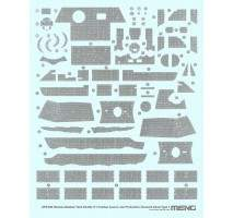 MENG SPS-050 - German Panther A Late Zimmerit Decal A 1:35