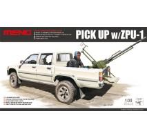 MENG Dual Cab Toyota Hi-Lux Pick Up w/ZPU-1 1:35