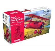 """MENG - 1:32 Fokker Dr.I. Triplane """"Red Baron"""" + Bust MANFRED VON RICHTHOFEN"""