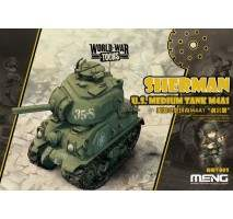 MENG Kids - M4A1 Sherman U.S Tank World War Toon