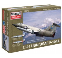 Minicraft 14675 - 1:144 F-104A USAF with 2 marking options