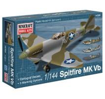 Minicraft 14704 - 1:144 Spitfire Vb USAAF/RAF with 3 marking options