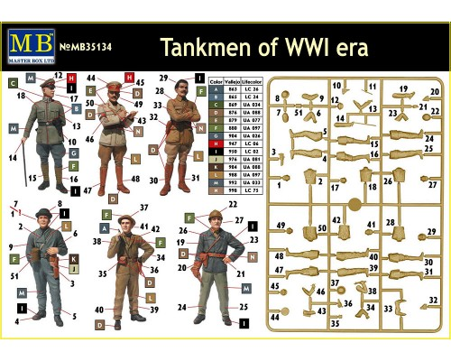 MB 35134 - Tankmen of WW I Era 1:35