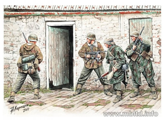MB 3584 - German Infantry - Western Europe 1944-1945 1:35