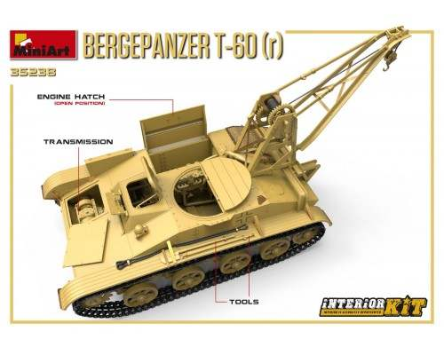 Miniart 35238 - 1:35 BERGEPANZER T-60 ( r ) (full interior)