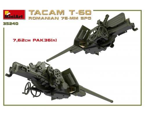 Miniart 35240 - 1:35 Romanian 76-mm SPG Tacam T-60 (Full Interior)