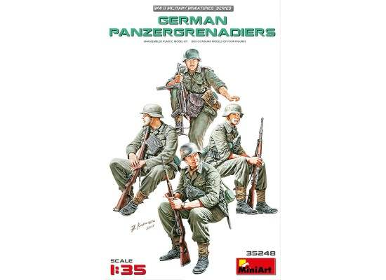 Miniart 35248 - 1:35 GERMAN PANZERGRENADIERS - 4 figures