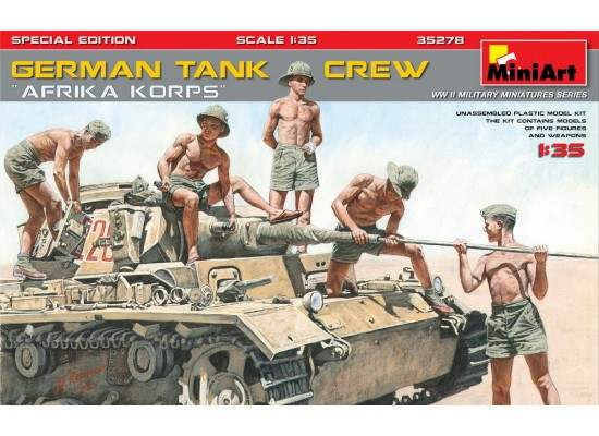 "Miniart 35278 - 1:35 German Tank Crew ""Afrika Korps"" Special Edition"