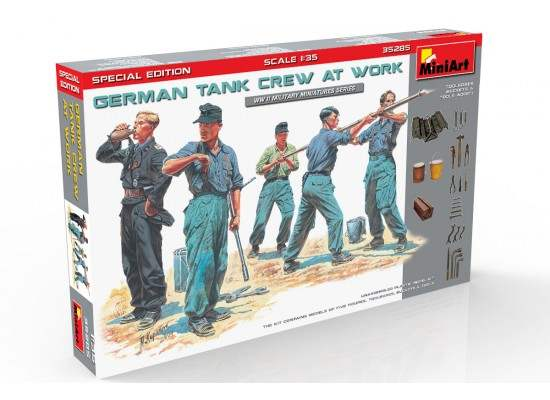 Miniart 35285 - 1:35 German Tank Crew at Work Special Edition