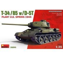 Miniart 35293 - 1:35 T-34/85 w/D-5T. PLANT 112. SPRING 1944