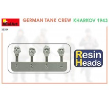 Miniart 35354 - 1:35 German Tank Crew Kharkov 1943 Resin Heads